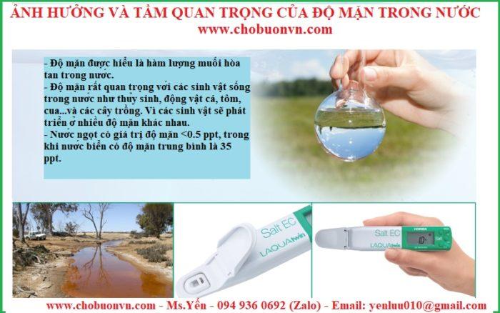 ảnh hưởng của độ mặn và tầm quan trọng của độ mặn trong nước