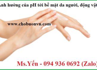Ảnh hưởng của pH tới bề mặt da