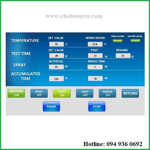 Bảng điều khiển tủ thử độ bền thời tiết BGD 852 hãng Biuged