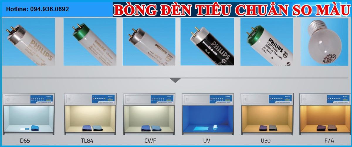 Màu sắc của các bóng đèn tiêu chuẩn dùng trong ngành so màu