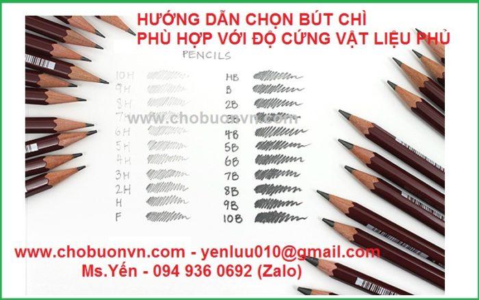 Hướng dẫn chọn bút chì phù hợp với độ cứng vật liệu phủ