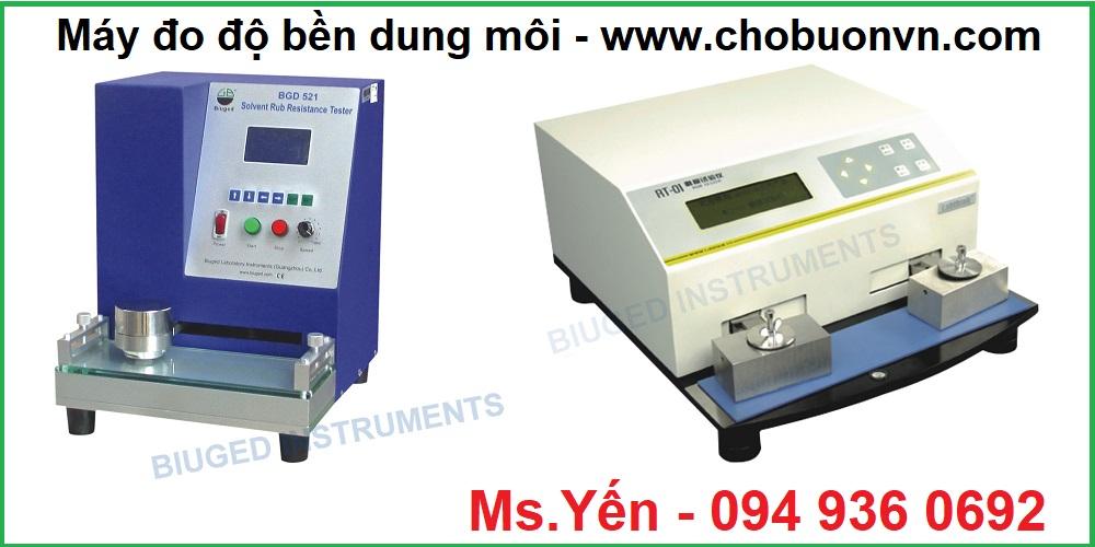 Máy đo độ bền màu dung môi hãng Biuged