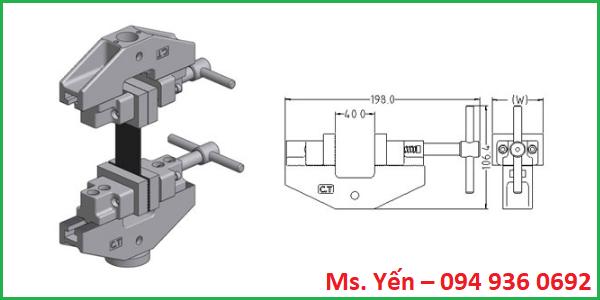 Ngàm kẹp của máy đo lực kéo đứt bao bì giá rẻ hãng Cometech
