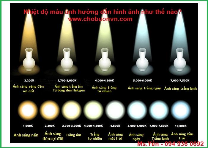 Nhiệt độ màu ảnh hưởng đến độ sáng bóng đèn