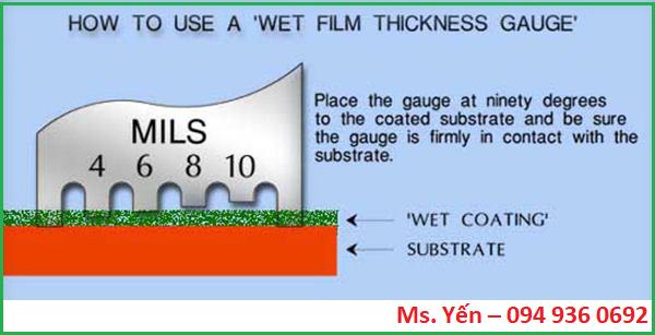 Phương pháp đo độ dày màng sơn ướt dạng thước đo kiểu răng lược