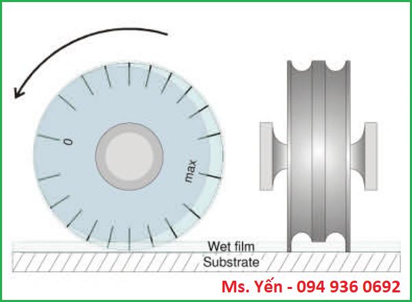 Phương pháp đo độ dày màng sơn ướt dạng bánh xe