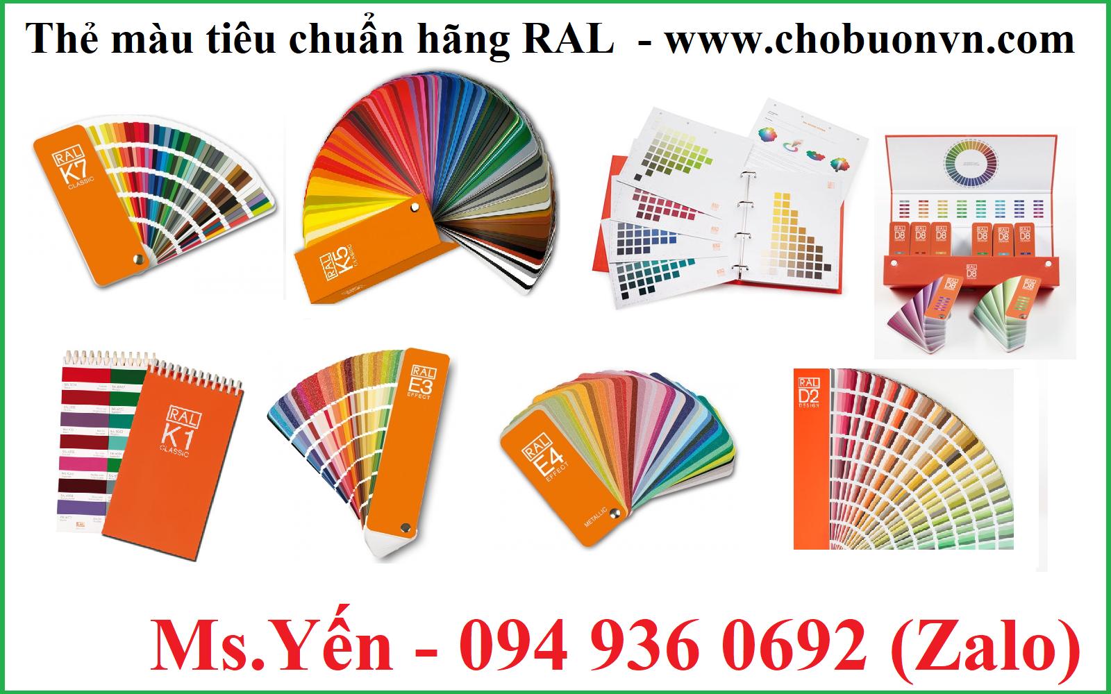 Thẻ màu tiêu chuẩn hãng RAL