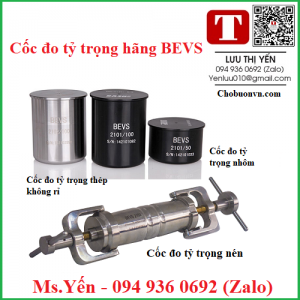 Cốc kiểm tra tỷ trọng hãng BEVS Xuất xứ Trung Quốc
