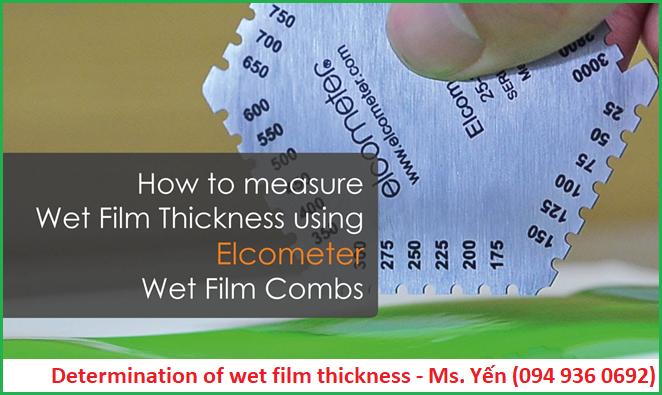 Phương pháp cơ học đo độ dày màng sơn ướt