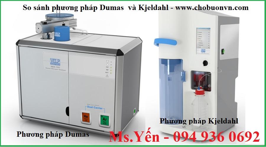 So sánh phương pháp Dumas và phương pháp Kjeldahl